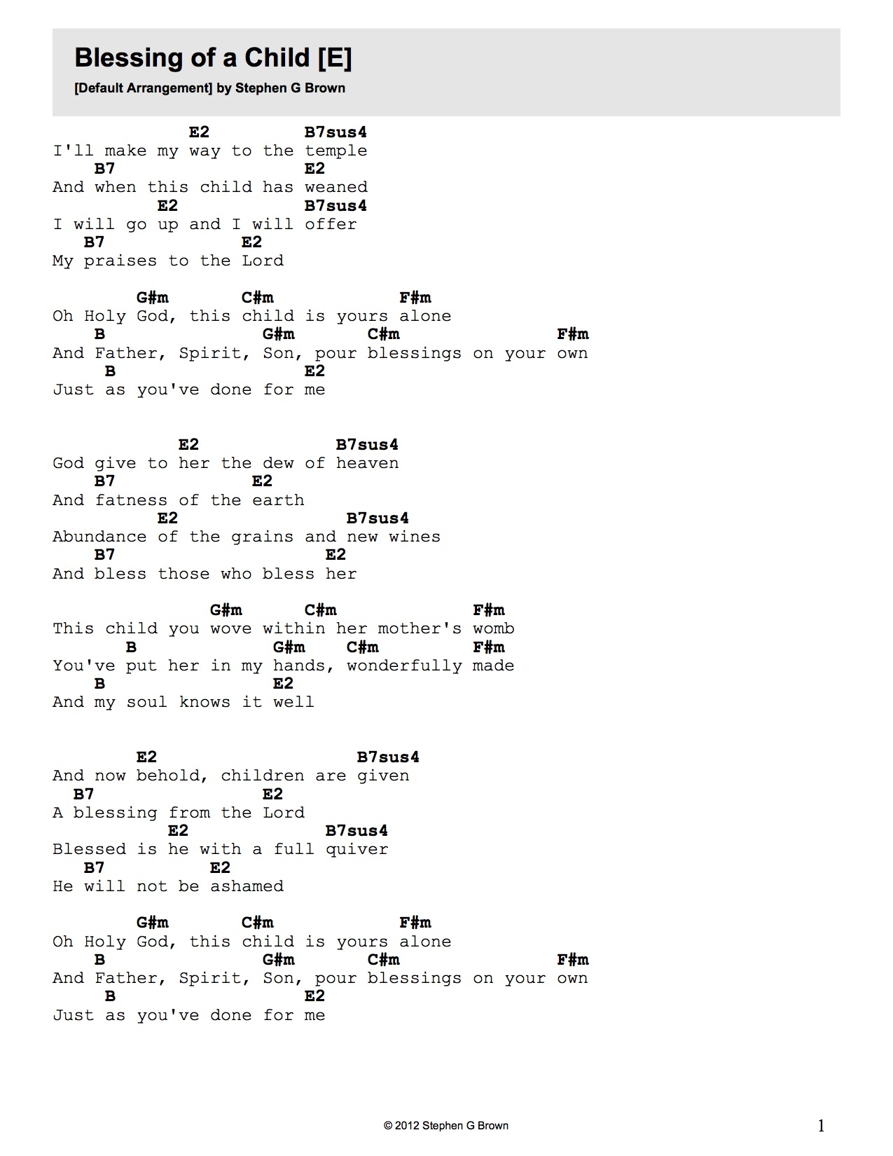 Brownian Worship Music Worship Music By Stephen G Brown